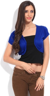 Mossimo Short Sleeve Solid Women's Blue Top