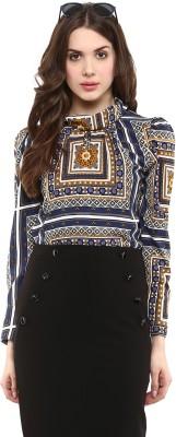 La Zoire Casual, Party Full Sleeve Printed Women's Multicolor Top