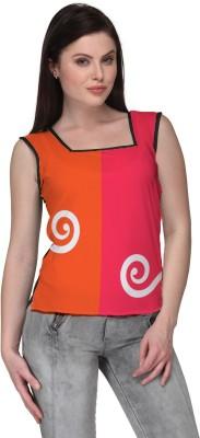 Avya Casual Sleeveless Printed Women's Pink Top