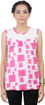 Asmara Casual Printed Women's Pink Top