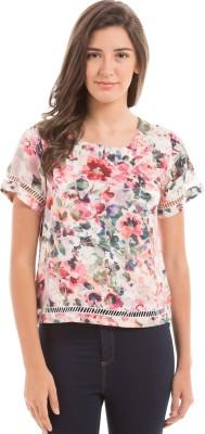 Prym Casual Short Sleeve Printed Women's Multicolor Top