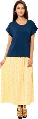 Leela Casual Cap sleeve Solid Women's Dark Blue Top