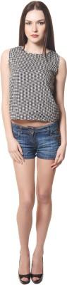 Maxi Fashion Casual Sleeveless Solid Women's Black Top