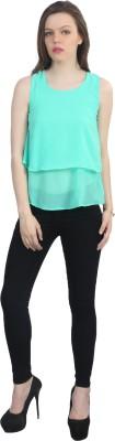 kellan Casual Sleeveless Solid Women's Light Green Top