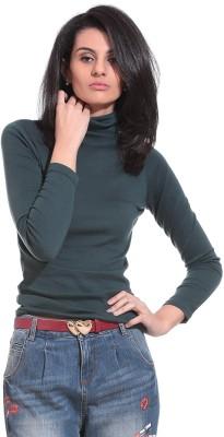 Saiints Casual Full Sleeve Solid Women's Green Top