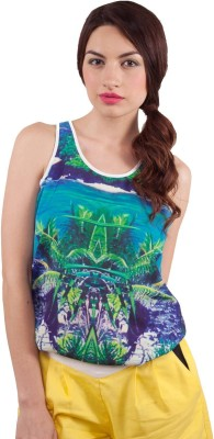 All About Eve Casual Sleeveless Printed Women's Multicolor Top