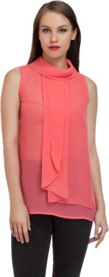 Schwof Party Sleeveless Solid Women's Pink Top