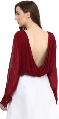 Miss Chase Casual Full Sleeve Solid Women