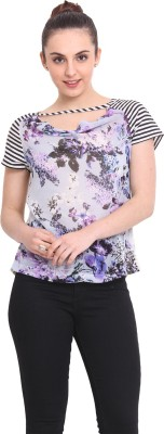 RSVP Cross Casual Short Sleeve Floral Print Women's Multicolor Top