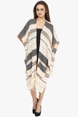 Citypret Casual Kimono Sleeve Striped Women's Multicolor Top