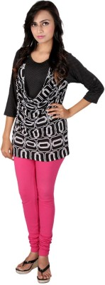 Go4it Casual, Party 3/4 Sleeve Geometric Print Women,s Black Top