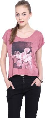 Leo Sansini Casual Short Sleeve Printed Women's Pink Top
