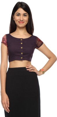 Francisca & Dominique Casual Cap sleeve Printed Women's Purple Top