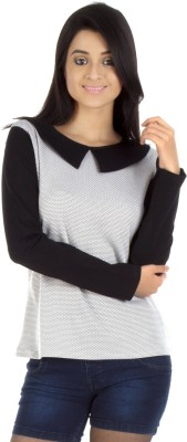 Veakupia Casual Full Sleeve Solid Women's Black Top at flipkart