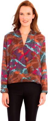 Vivante by VSA Casual Full Sleeve Printed Women's Brown Top