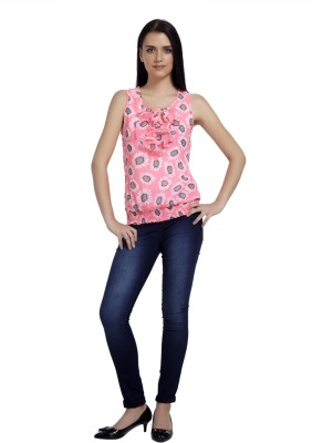 Mineral Casual Sleeveless Printed Women's Pink Top