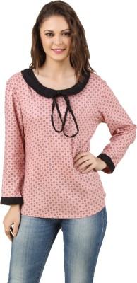Lili Blank Casual Full Sleeve Printed Women's Pink Top
