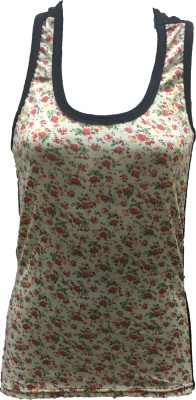 Dovekie Casual Sleeveless Printed Women's White, Red Top