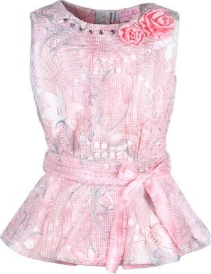 Cutecumber Party Sleeveless Floral Print Girl's Pink Top