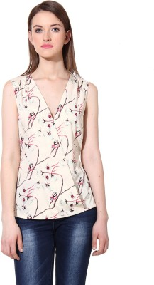 Oxolloxo Casual Sleeveless Printed Women's Multicolor Top at flipkart