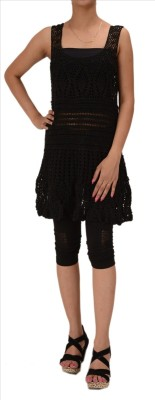 Skirts & Scarves Casual Sleeveless Embroidered Women's Black Top