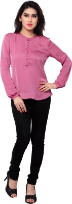 SFDS Casual Full Sleeve Solid Women's Pink Top