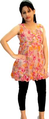 Shonaa Casual Sleeveless Floral Print Women's Multicolor Top