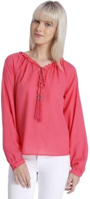 Vero Moda Casual Full Sleeve Solid Women's Pink Top