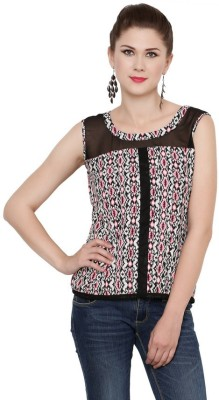 Zotw Casual Sleeveless Printed Women's Multicolor Top