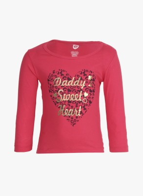 Baby League Casual Full Sleeve Printed Baby Girl,s Pink Top