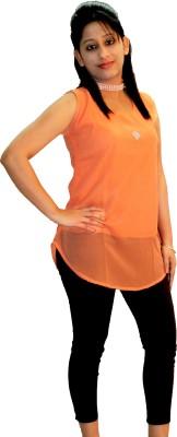 Shonaa Casual Sleeveless Printed Girl's Multicolor Top