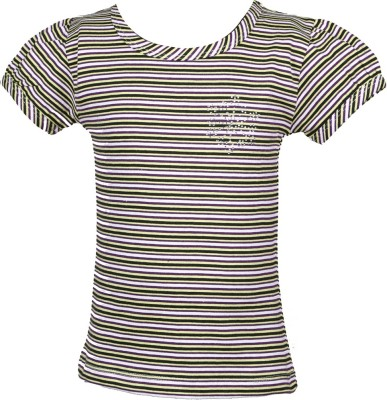 JG Fashion Casual Sleeveless Striped Girl's Multicolor Top