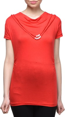 London Off Casual Sleeveless Solid Women's Red Top