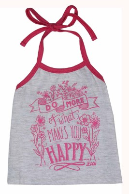 Little Kangaroo Casual Sleeveless Printed Baby Girl's Red Top