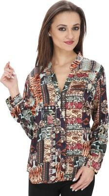 Svt Ada Collections Casual Full Sleeve Printed Women's Multicolor Top