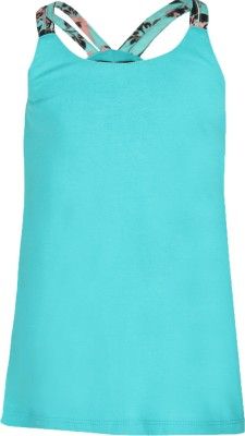 Cool Quotient Casual Sleeveless Solid Girl's Green Top
