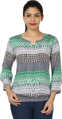 BrandTrendz Casual Full Sleeve Printed Women's Multicolor Top