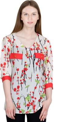 JAPPSHOP Casual 3/4 Sleeve Floral Print Women's Multicolor Top
