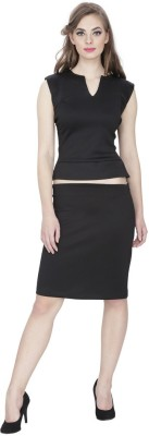 Emmylyn Casual Sleeveless Solid Women's Black Top