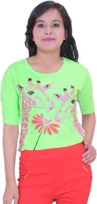 Krazzy Collection Casual 3/4 Sleeve Solid Women,s Green Top