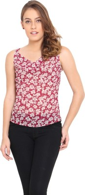 Pera Doce Casual Sleeveless Printed Women,s Red Top