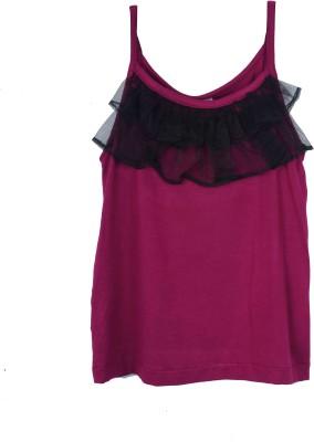Kidzblush Casual Sleeveless Solid Girl's Purple, Black Top