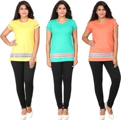 Habitude Casual, Sports Short Sleeve Printed Women's Multicolor Top