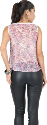 Uptowngaleria Casual Sleeveless Solid Women's Pink Top