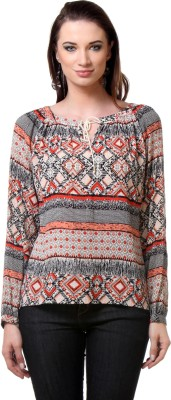Envy Me Casual Full Sleeve Geometric Print Women,s Multicolor Top