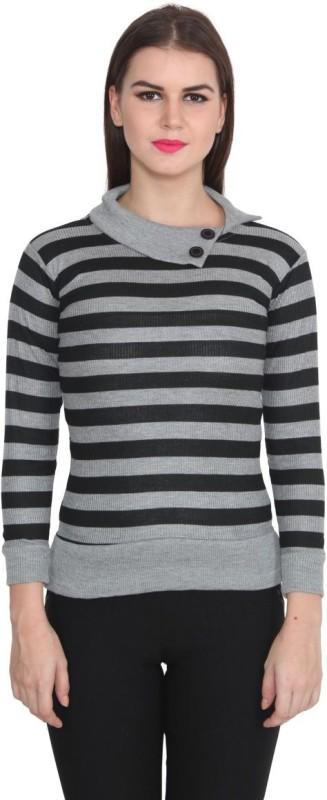 TeeMoods Casual Full Sleeve Striped Women's Black, Grey Top