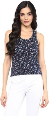 Querida Casual Sleeveless Floral Print Women's Multicolor Top