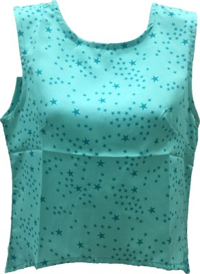 Dovekie Casual Sleeveless Printed Women's Green Top