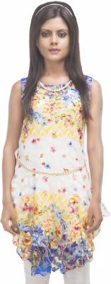 Retaaz Casual, Party, Festive Sleeveless Floral Print Women's Multicolor Top
