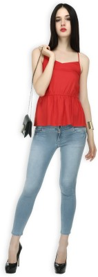 20Dresses Casual Sleeveless Solid Women's Red Top